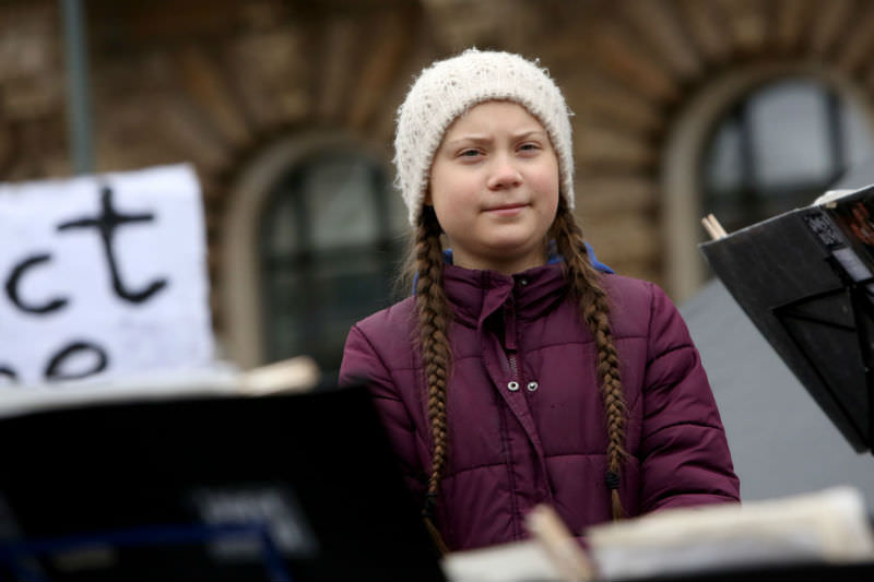 Swedish activist Greta Thunberg joins Hamburg climate protest in March 2019 (Adam Berry/Getty Images)