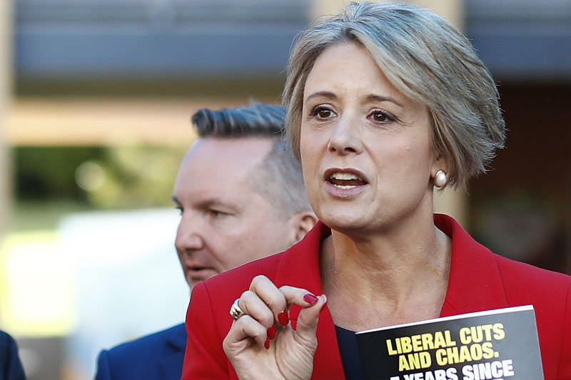 Shadow Minister for Home Affairs Kristina Keneally on the campaign trail in May 2019. (Photo by Ryan Pierse/Getty Images)