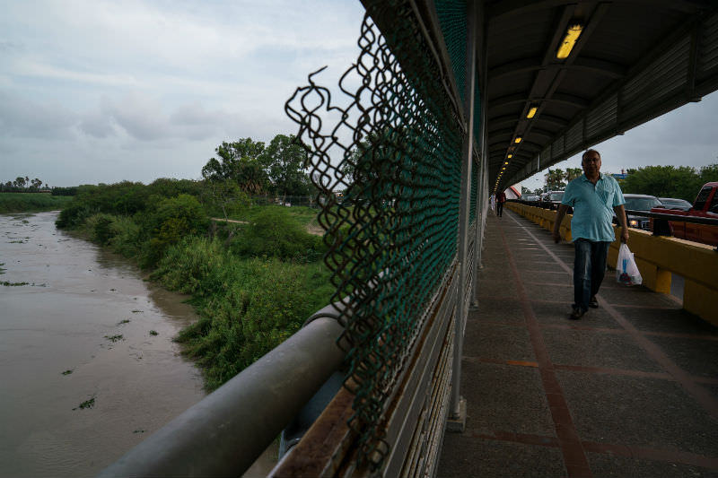 The Rio Grande as seen from the International Bridge near a section where a father and daughter drowned attempting to cross into the United States on 26 June 2019. (Photo by Verónica G. Cárdenas/Getty Images)