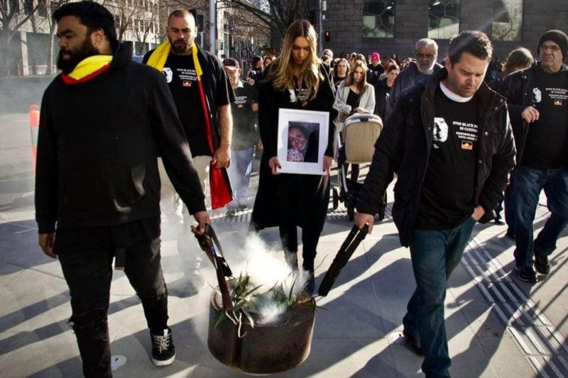 Protestors walk for justice for Tanya Day