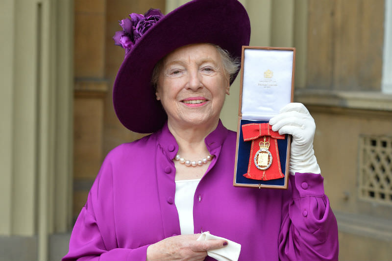 Entrepreneur and philanthropist Dame Stephanie Shirley after she was made a member of the Order of the Companions of Honour by the Duke of Cambridge during an Investiture ceremony at Buckingham Palace on 31 October 2017. (Photo by John Stillwell - WPA Pool / Getty Images)