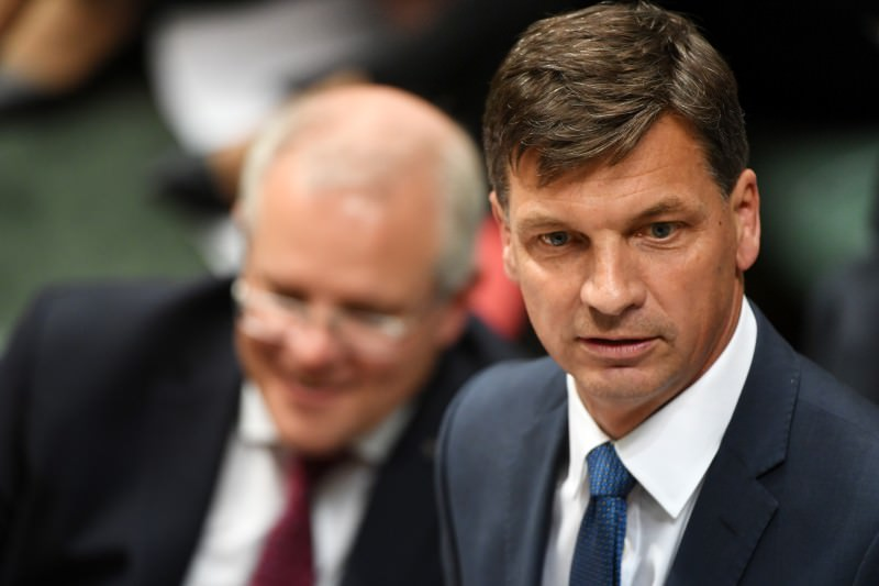 Liberal MP Angus Taylor during Question Time on 25 November 2019. (Photo by Tracey Nearmy/Getty Images)