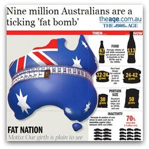 Nine million Australians are a ticking 'fat bomb' (The Age)