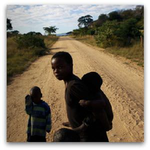 Zimbabwe children walking to school - Flickr image by Sokwanele