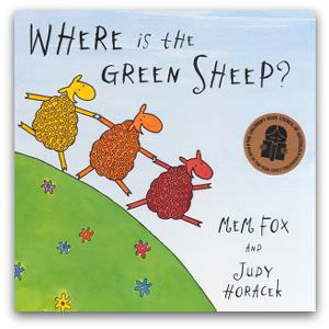 'Where is the green sheep?' by Mem Fox, cropped 300 by 300