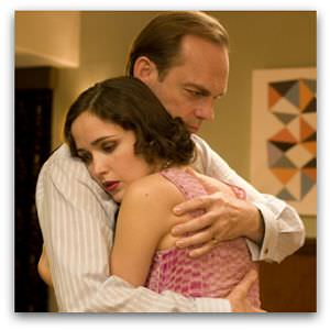Rose Byrne and Hugo Weaving in The Tender Hook, screen cap cropped 300 by 300