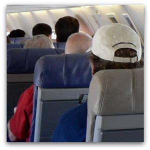 Airplane interior, Flickr image by ma1974
