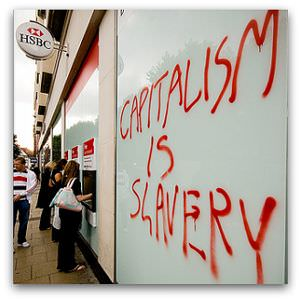 Capitalism is Slavery, Flickr image by itspaulkelly