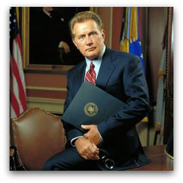 President Jed Bartlett (Martin Sheen) from The West Wing