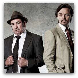 Roy Billing as Aussie Bob and Matthew Newton as Kiwi Terry in Underbelly: A Tale of Two Cities
