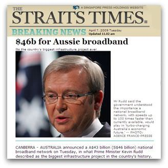 $46b for Aussie broadband, Straits Times