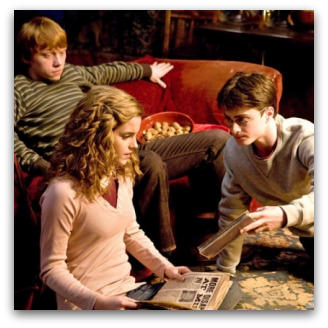 Harry Potter and the Half-Blood Prince, Rupert Grint, Emma Watson and Daniel Radcliffe