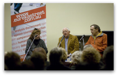 Kerry Greenwood, Darcy Dugan and Peter Norden, Crime and Justice Festival 2009