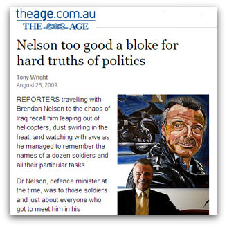 Nelson too good a bloke for hard truths of politics, The Age