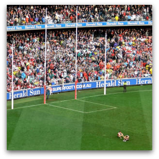 Defeated Saints at the 2009 AFL Grand Final, Flickr image by davidbrewster