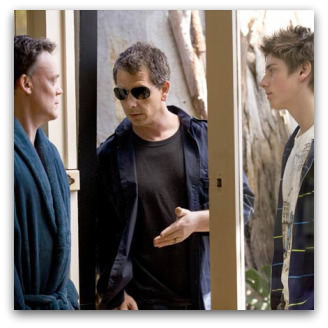 Joel Tobeck, Ben Mendelsohn and Lincoln Younes in Tangle
