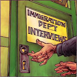 'Immigration's Closed Door', by Chris Johnston
