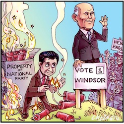 'Blasting Tony Windsor out of New England' by Chris Johnston