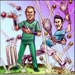 'Warne And Tomic' by Chris Johnston