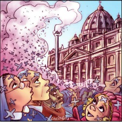 'Pope smoke' by Chris Johnston
