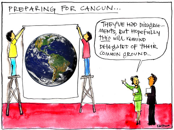 'Preparing for Cancun' by Fiona Katauskas