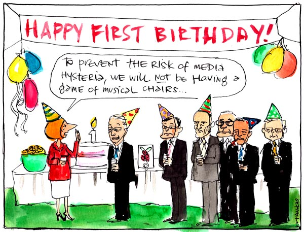 'Party time for Gillard', by Fiona Katauskas