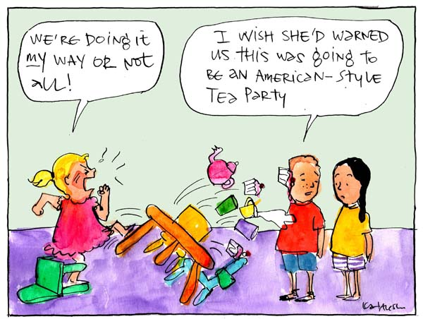 'Tea Party tantrum', by Fiona Katauskas
