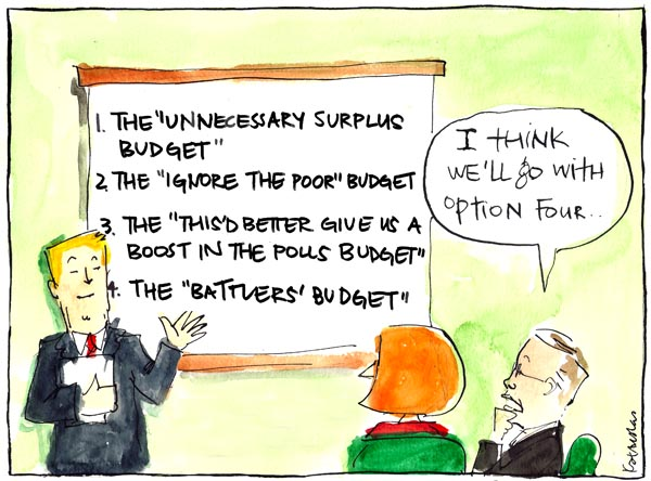 'Spinning the Budget', by Fiona Katauskas