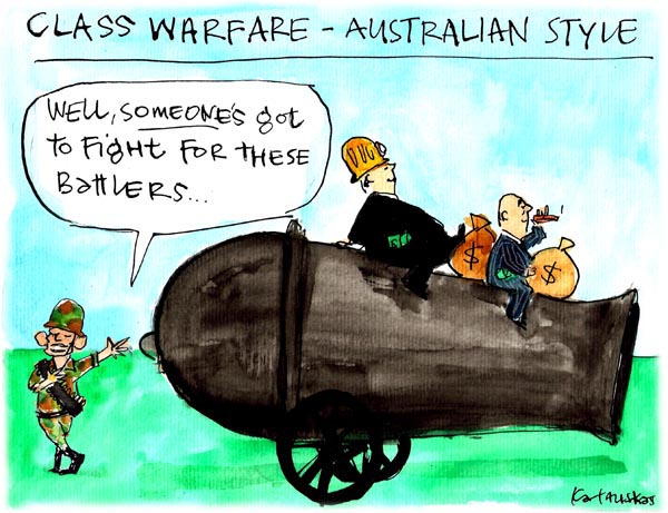 'Abbott's big guns', by Fiona Katauskas