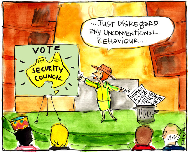 'Gillard's Security Council bid' by Fiona Katauskas