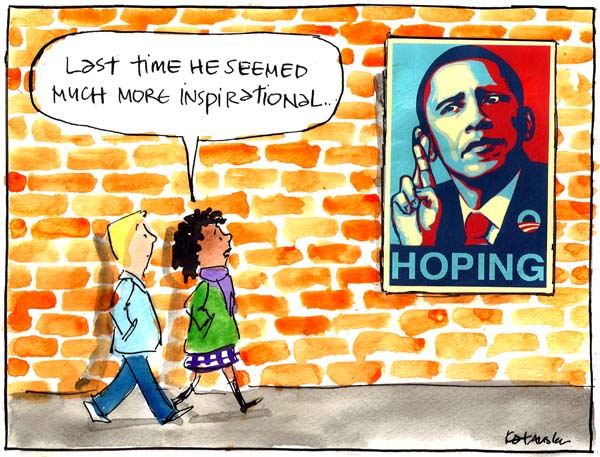 'Obama's hope' by Fiona Katauskas