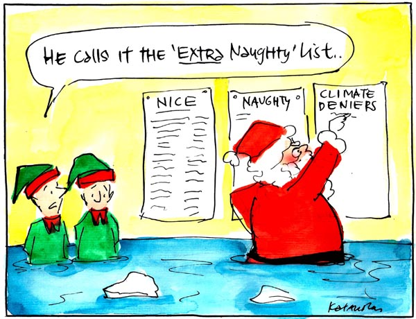 'What Santa thinks of climate change scepticism' by Fiona Katauskas